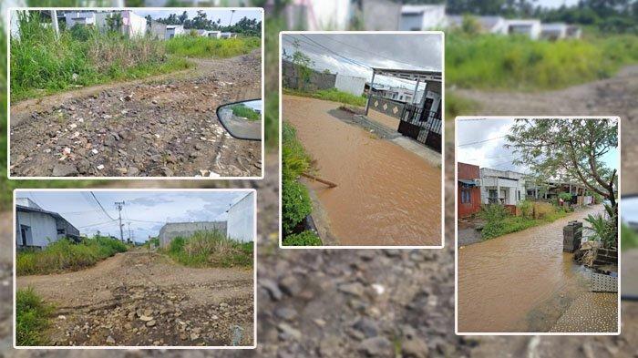 Jalan di GPI Harus Diperhatikan, Kondisinya Bak Sungai Kering di Musim Panas, Kolam Ikan Saat Hujan