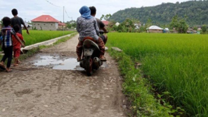 Kondisi Jalan Lingkar Antara Desa Buyat Boltim Rusak, Warga Minta Perhatian Pemerintah