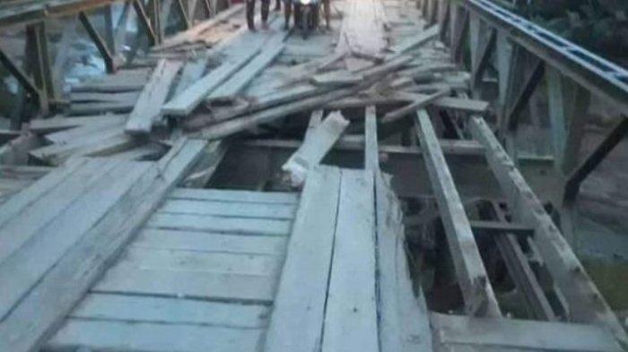 Jembatan Kosio Rusak Parah, Warga Dumoga Minta Bupati Jangan Tutup Mata