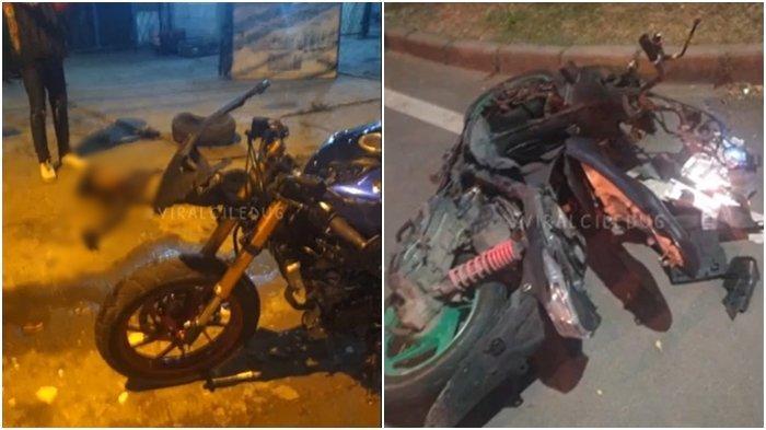Kecelakaan Maut Tadi Pukul 02.30 WIB, 2 Pengendara Motor Tewas, Kedua Kobran Tabrakan Adu Banteng