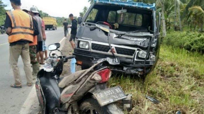 Kecelakaan Maut Tadi Pagi Pukul 09.00 WIB, ASN Dishub Tewas, Motornya Ditabrak Sopir Pikap 19 Tahun