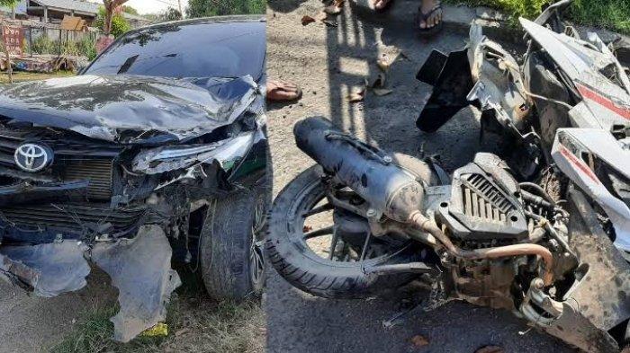 Kecelakaan Maut Pukul 13.00, Dua Remaja Tewas Seketika, Korban Ngebut saat Melambung Tertabrak Mobil