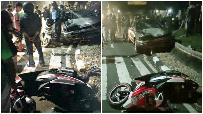 Kecelakaan Maut Pukul 21.30 WIB, Pak Sekdes dan Kadus Tewas, Motor Korban Bertabrakan dengan Mobil