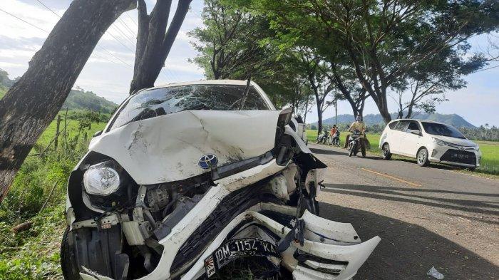 BREAKING NEWS, Kecelakaan di Jalan Trans Sulawesi Bolmong, Dua Mobil Tabrakan