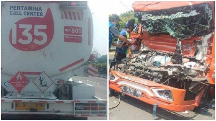 Kecelakaan Maut Tadi Siang Pukul 11.45 WIB, Sopir Truk Tangki Air Tewas usai Tabrak Truk Tangki BBM