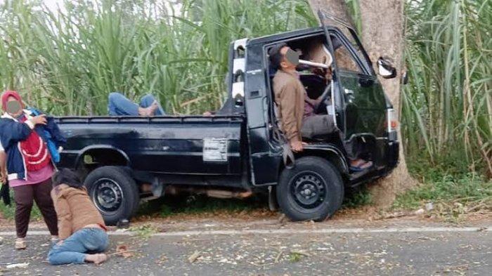 Kecelakaan Maut Pukul 06.45 WIB, Sopir Tewas Tertabrak Mobilnya, Korban Dihantam Pikap yang Mundur