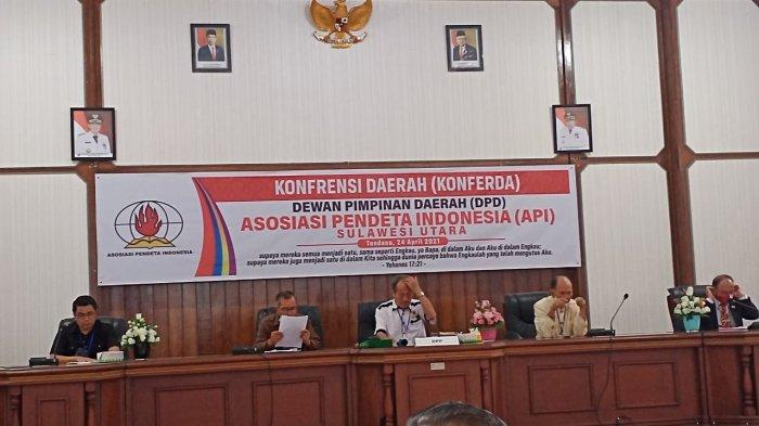 Konferda API Sulut Kembali Tetapkan Dolfie Kuron Sebagai Ketua DPD Periode 2021-2026