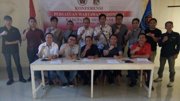 Christian Tangkere Terpilih Ketua PWI Minahasa Pertama, Aswin Minta Rajin Gelar Uji Kompetensi