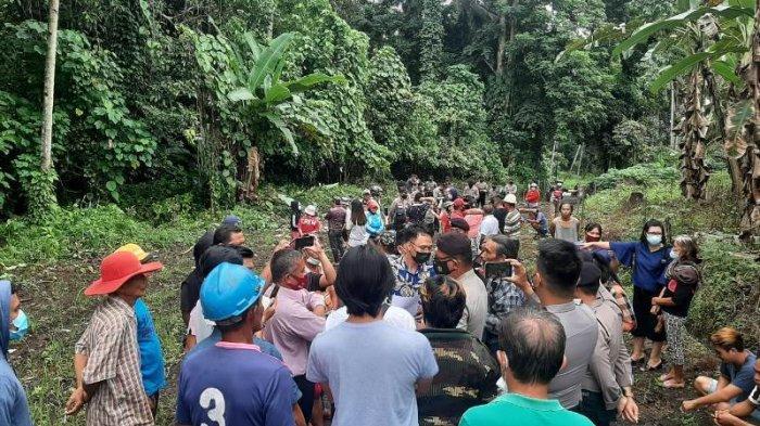 Adu Mulut Terjadi di Desa Sea Minahasa, Patok Batas Hutan Mata Air Dicabut & Pondok Dirobohkan