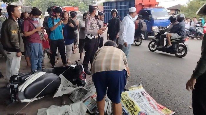 Kecelakaan Maut Pukul 17.00 WIB, Mahasiswi Tewas, Motor Terlilit Kabel Lalu Korban Terlindas Truk