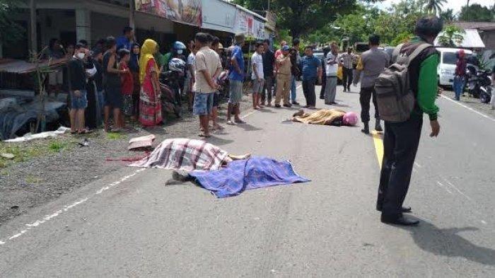 Kecelakaan Maut Tadi Siang Pukul 11.30, Suami Istri dan Anak Tewas di Tempat, Sopir Innova Kabur