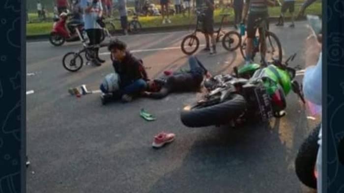 Kecelakaan Maut Tadi Pukul 06.30 WIB, Seorang Wanita Tewas, Motor Kawasaki ER-6n Tabrak Honda Beat