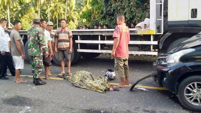 Kecelakaan Maut Tadi Sore, Istri Tewas Suami Kritis, Diduga Mobil Melambung lalu Tabrak Motor Korban