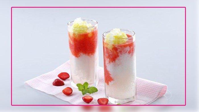 Cara Buat Korean Strawberry Milk Latte, Cocok Untuk Buka Puasa