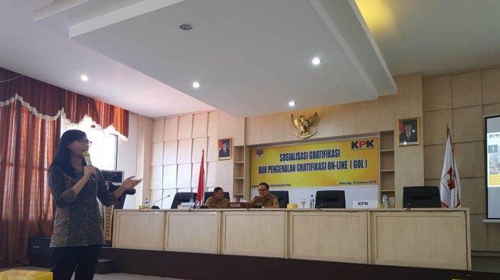 KPK Sosialisasi Gratifikasi Online kepada Para Pejabat Minsel