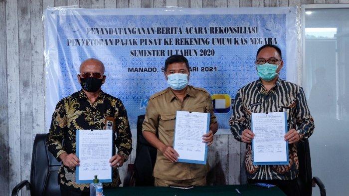 KPP Pratama dan KPPN Manado Teken Rekonsiliasi Penyetoran Pajak Pusat dengan Pemkot Manado
