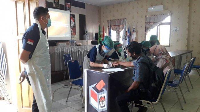 KPU Bolmut Lakukan Rapid Tes Bagi 312 Anggota Badan Adhoc