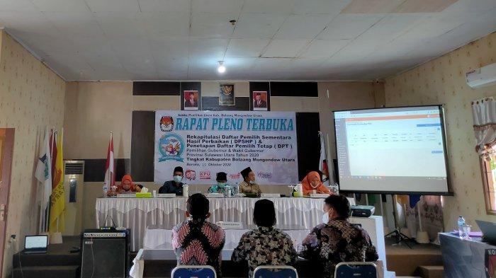 Hasil Pleno KPU Bolmut, Jumlah DPT di Kabupaten Bolmut Bertambah 778 Pemilih Tahun 2020