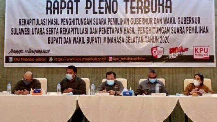 Hasil Rekapitulasi KPU Minsel, Franky Wongkar dan Petra Rembang Menang 74.875 Suara