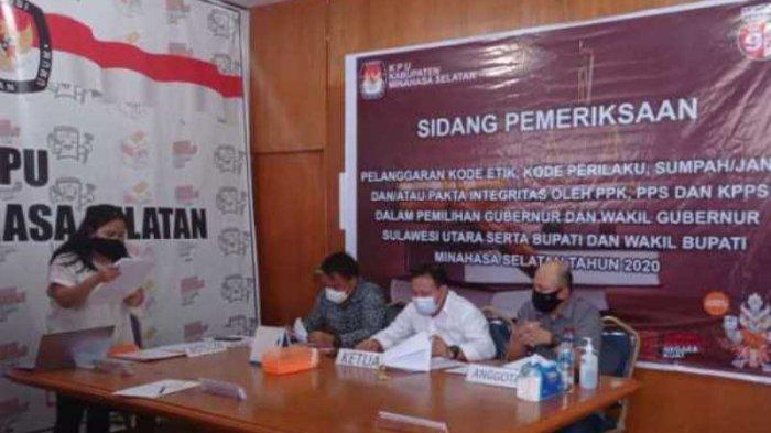 Diduga Memihak Peserta Pilkada, KPU Minsel Sidangkan 6 Petugas Pemilu