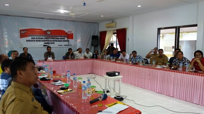 KPU Sangihe Gelar Rapat Penataan Daerah Pemilihan