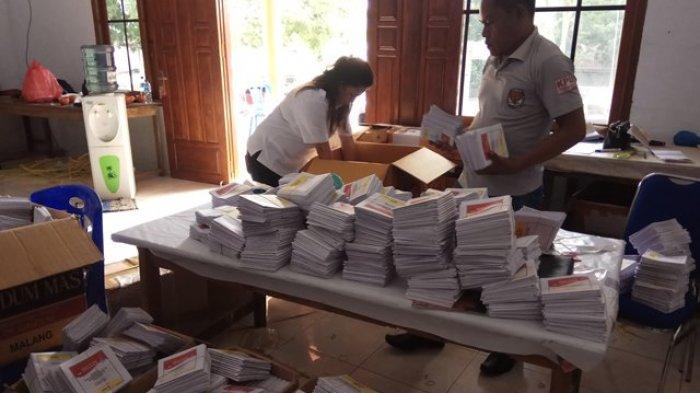KPU Sitaro Minta Surat Suara Pengganti yang Rusak Segera Dikirim