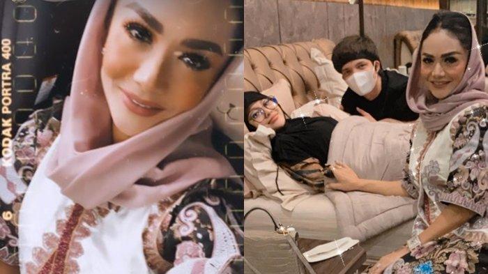 Krisdayanti besuk Aurel Hermansyah yang sedang sakit