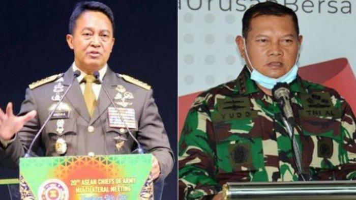 KSAD Jenderal Andika Perkasa hingga KSAL Laksamana Yud Margono menjadi calon kuat menggantikan Marsekal Hadi Tjahjanto.