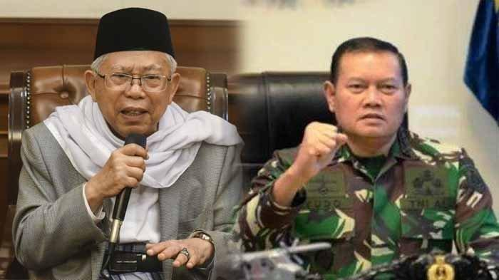 KSAL Laksamana TNI Yudo Margono disebut Wapres Maruf Amin dengan sapaan Panglima.