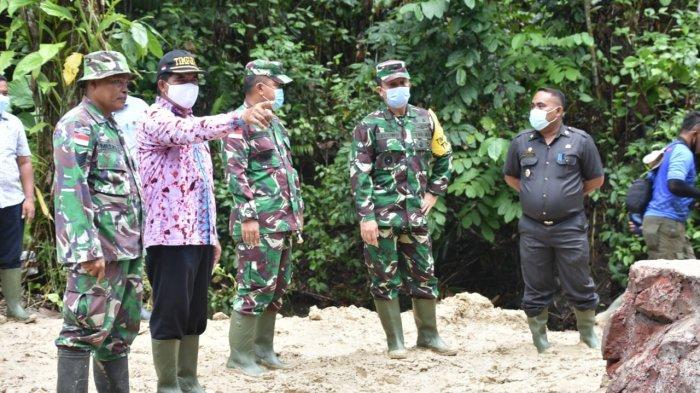 Tim Pengawasan dan Evaluasi TMMD Mabesad Pantau Perkembangan Pelaksanaan TMMD Ke-110 di Talaud Sulut