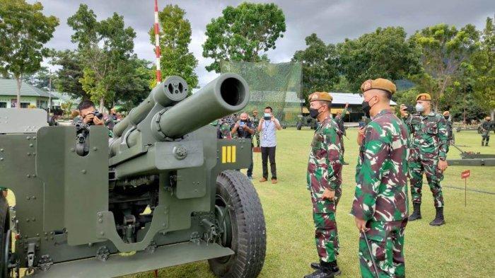 Utusan Kasad Pantau Latihan di Batalyon Armed Tarik Bogani Lolak, Ajarkan Strategi Menembak
