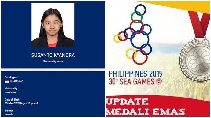 Mengenal Kyandra Susanto, Atlet Termuda Indonesia Peraih Medali di SEA Games 2019, Ini Profilnya