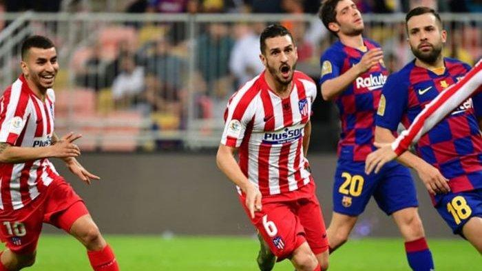 Hasil Atletico Madrid vs Barcelona di Liga Spanyol, Messi Cs Terjungkal Akibat Ulah Fatal Ter Stegen