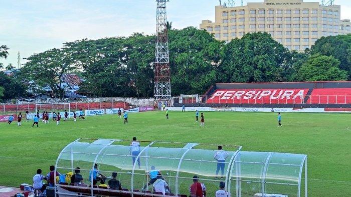 Uji Coba di Klabat, Sulut United Ditahan Imbang Tim PON Sulut