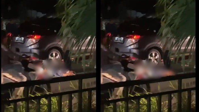 BREAKING NEWS, Kecelakaan di Minut, Motor Tergelincir, Remaja Wanita Masuk Kolong Mobil
