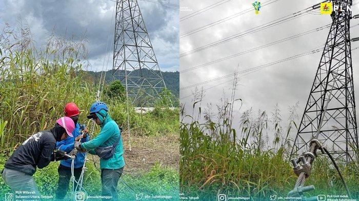 Langkah awal perbaikan Tower Transmisi yang roboh akibat luapan arus sungai pasca curah hujan tinggi.