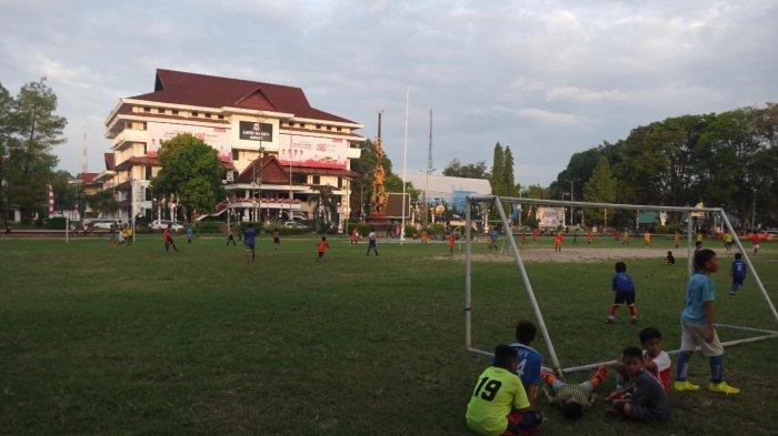 Lapangan Saparta Tikala, Kota Manado, Sulawesi Utara, Rabu (21/7/2021).