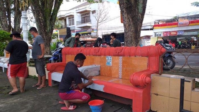 Sambut HUT Ke-398 Manado,  Lapangan Sparta Tikala Diperbaiki