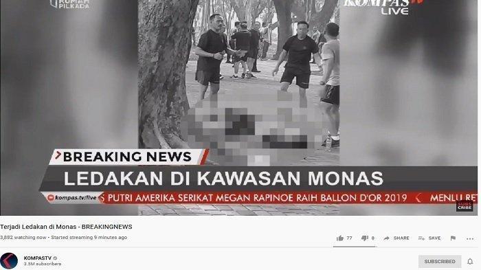 Ledakan di Monas, Dua Orang Anggota TNI Terluka