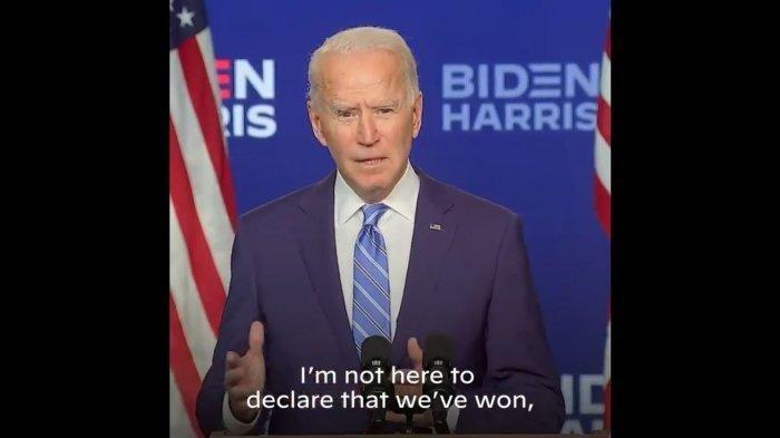 Lewat akun Twitter/@JoeBiden, Biden meyakini ketika proses penghitungan suara usai, ia akan menjadi pemenang Pilpres AS 2020.