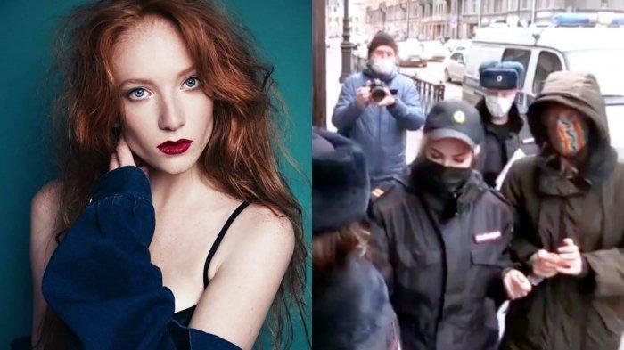 Lilia Sudakova, seorang model cantik berusia 26 tahun yang membunuh suaminya Sergey Popov (28).