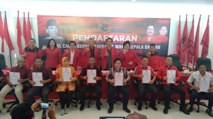 5 Bakal Calon Bupati dan 4 Wakil Bupati Hadiri Undangan Pendaftaran di DPD PDIP Sulut