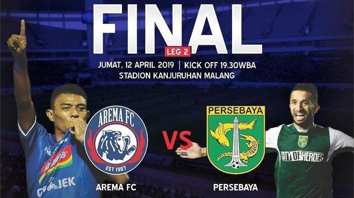 LINK LIVE STREAMING- Arema FC vs Persebaya di Final Piala Presiden 2019, Tonton via Ponsel