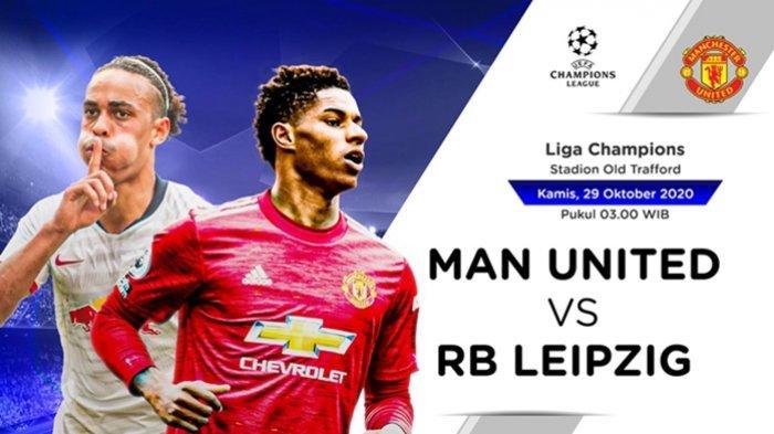 Link Streaming Liga Champions Manchester United vs RB Leipziq, Live Video.com Kamis Dini Hari