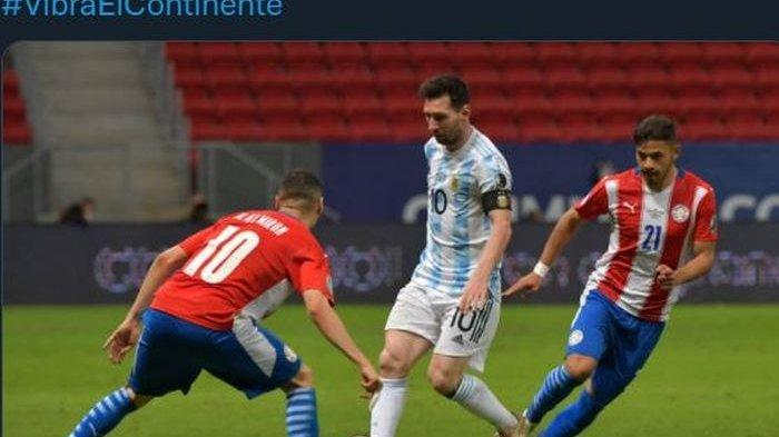 HASIL Argentina Vs Paraguay di Copa Amerika 2021, Gol Berkat Giringan Messi dari Tengah Lapangan