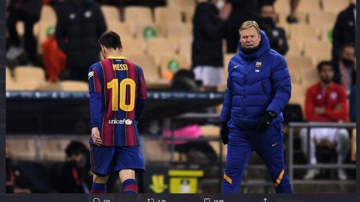 Barcelona Dipermalukan, Ronald Koeman Singgung Peluang Lolos Lionel Messi Cs ke Perempat Final