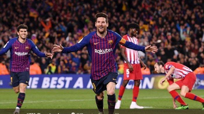 Hasil Pertandingan Liga Spanyol - Barcelona Tumbangkan Atletico di Camp Nou, Harinya Suarez & Messi