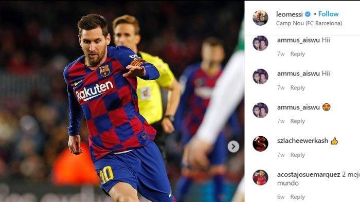 Megabintang Barcelona Lionel Messi