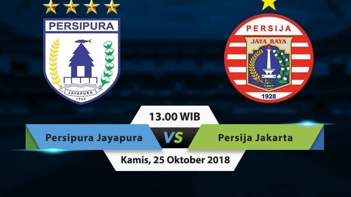 LIVE STREAMING Persipura Vs Persija Liga 1 2018 Mulai Pukul 13.00 WIB di OChannel dan Vidio.com