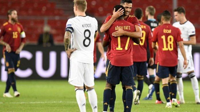 LIVE STREAMING Spanyol Vs Jerman UEFA Nations League Rabu 18/11/2020, Saling Rebut Puncak Klasmen